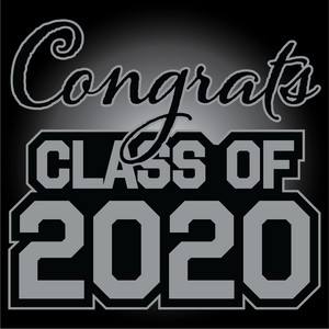 Gray and Black Graduation Yard Sign