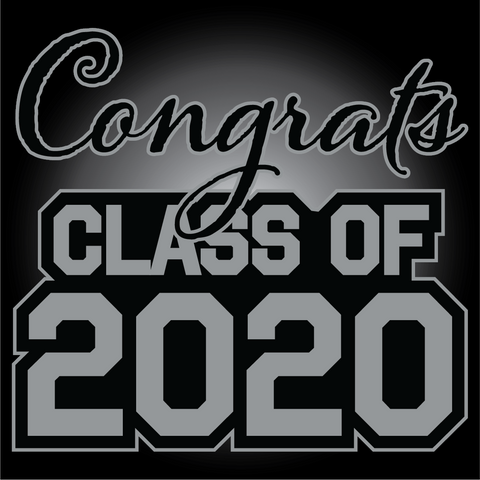 Gray and Black Graduation Yard Sign - All Out Canvas