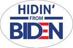 Hidin' from Biden Stickers - All Out Canvas