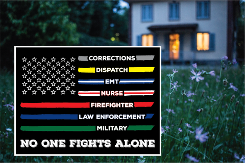 No One Fights Alone, First Responders Flag yard sign - All Out Canvas