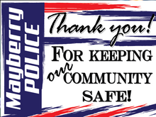 "Load image into Gallery viewer, Customize this yard sign and tell your local law enforcement ""thank you"" thin blue line American made back the blue police support customizable"