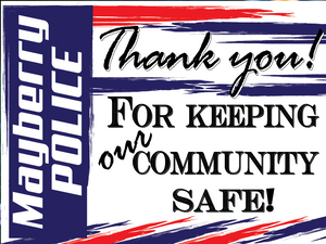 "Customize this yard sign and tell your local law enforcement ""thank you"" thin blue line American made back the blue police support customizable"