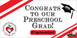 Preschool Graduation Custom Yard Sign - All Out Canvas