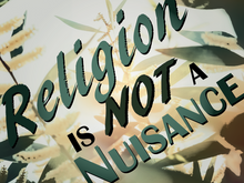 Load image into Gallery viewer, Religion is NOT a nuisance! - All Out Canvas