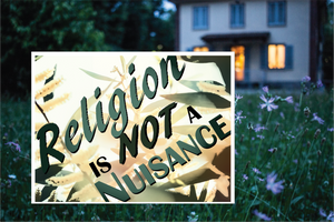 Religion is NOT a nuisance! - All Out Canvas