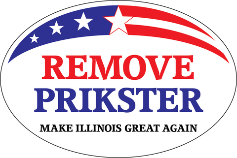Remove Prikster/Make Illinois Great Again Sticker - All Out Canvas