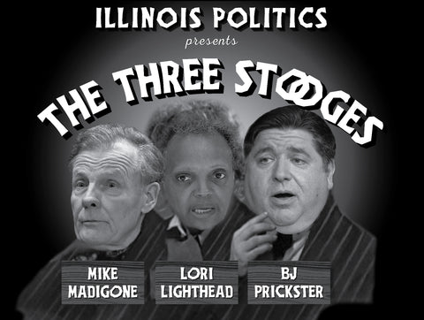 The Three Stooges-Mike MadiGONE, Lori Lighthead, BJ Prickster Yard Sign or vinyl Banner - All Out Canvas