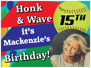 Honk and Wave! Birthday yard sign