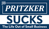 JB Pritzker Sucks the Life Out of Small Business Banner w/Grommets - All Out Canvas