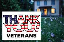 Load image into Gallery viewer, Customizable Patriotic Thank You yard sign