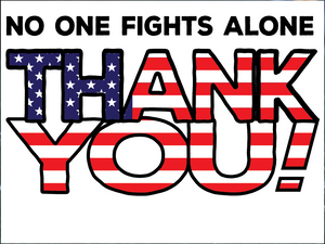 Customizable Patriotic Thank You yard sign