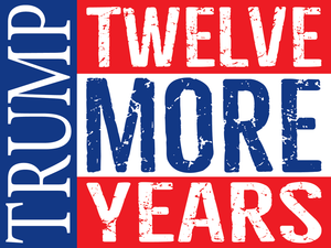 Trump: Twelve More Years yard sign