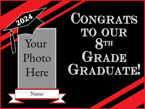8th Grade Grad Yard Sign - All Out Canvas