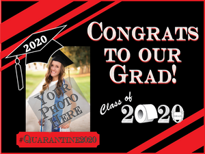 Custom Graduation Yard Sign - All Out Canvas