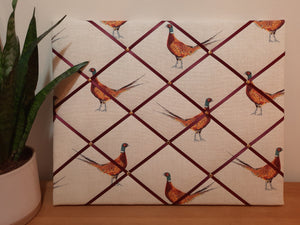 Large Fabric Memo Board - Fantastic Pheasants