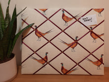 Load image into Gallery viewer, Large Fabric Memo Board - Fantastic Pheasants