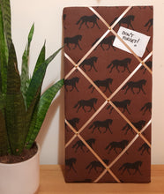 Load image into Gallery viewer, Small Fabric Memo Board - Horses