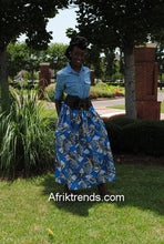 Load image into Gallery viewer, African print maxi skirt