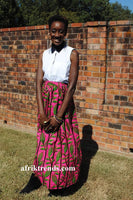 African print skirt with pockets