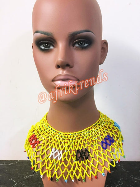 Beaded Zulu Collar Necklace
