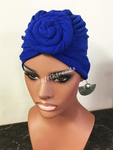 Load image into Gallery viewer, Top Knot Headwrap Turban
