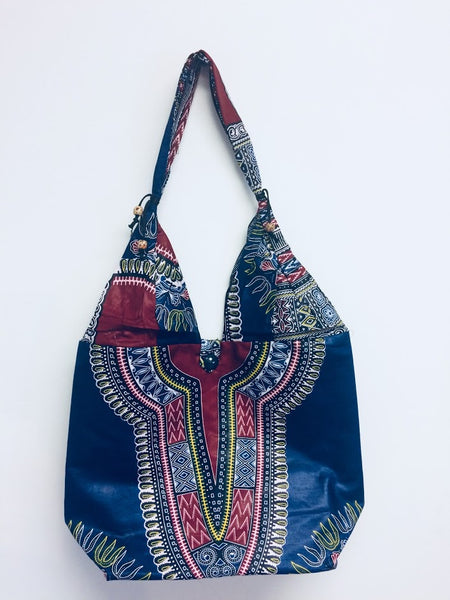 African Dashiki Print Bag Tote Purse