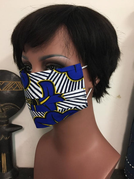 African Print Face Cover Mask