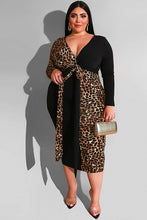Load image into Gallery viewer, Plus Size Leopard Print Maxi Dress
