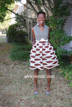 Load image into Gallery viewer, African print Ankara skirt with pockets