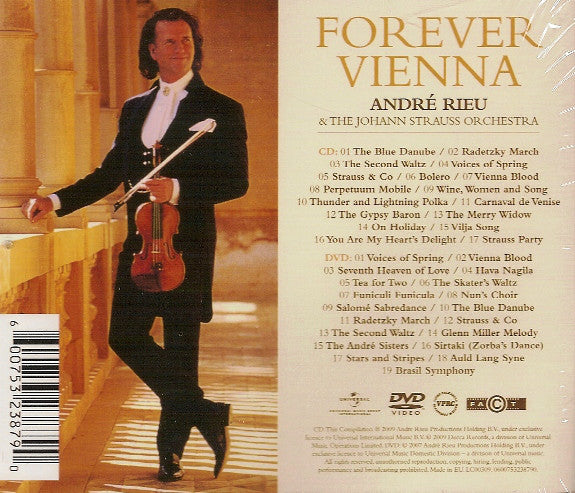 CD + DVD André Rieu And The Johann Strauss Orchestra ‎– Forever Vienna
