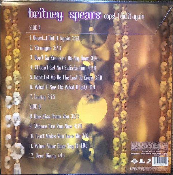 LP Britney Spears ‎– Oops!...I Did It Again