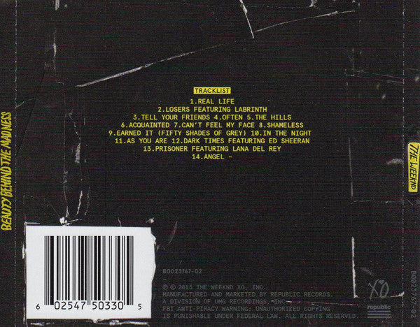 CD The Weeknd ‎– Beauty Behind The Madness