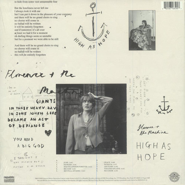 LP Florence And The Machine ‎– High As Hope