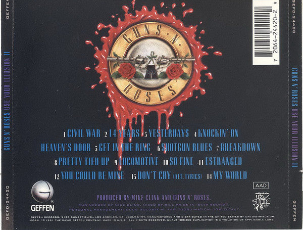CD Guns n roses - Use your ilusion II