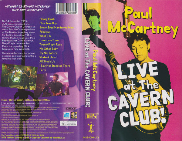 PAUL MCCARTNEY ‎– LIVE AT THE CAVERN CLUB! / DVD