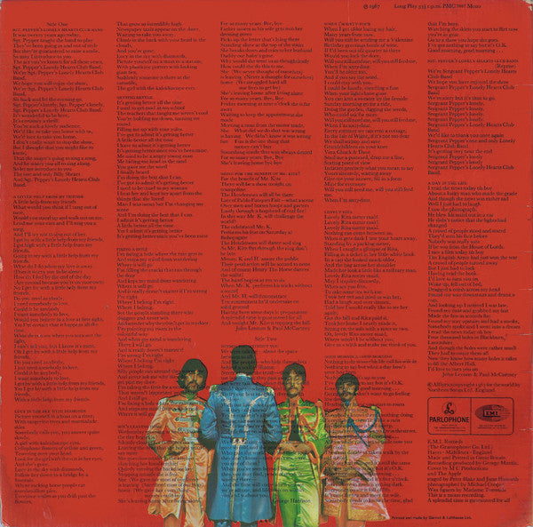 LP The Beatles ‎– Sgt. Pepper's Lonely Hearts Club Band
