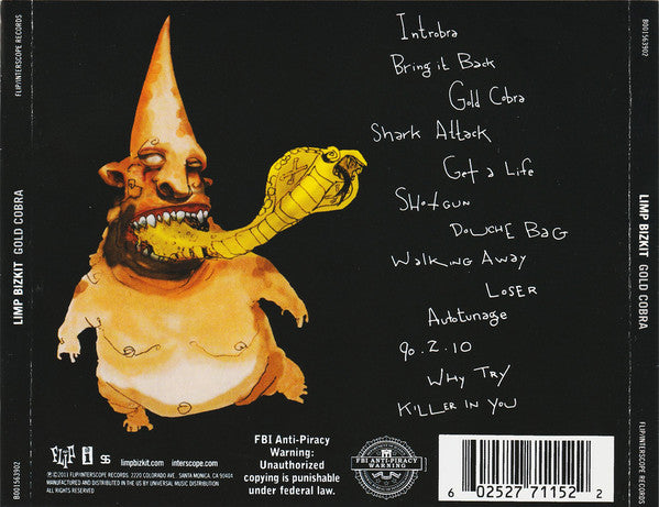 CD Limp Bizkit ‎– Gold Cobra