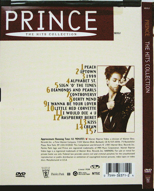 PRINCE ‎– THE HITS COLLECTION / DVD