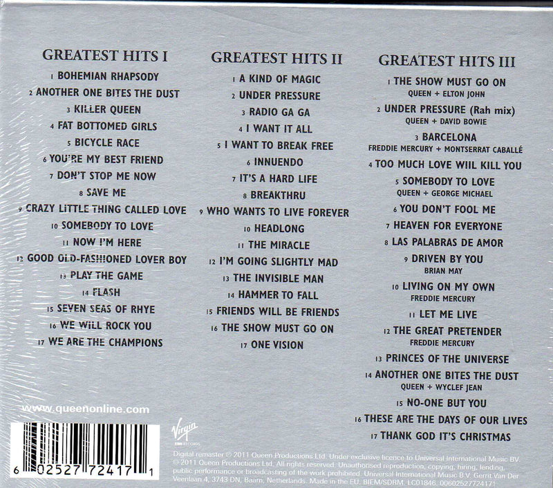 CD x3 Queen ‎– Greatest Hits I II & III (The Platinum Collection)