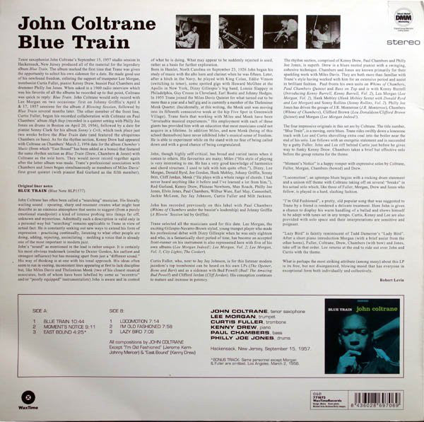 LP John Coltrane ‎– Blue Train limited edition green vinyl