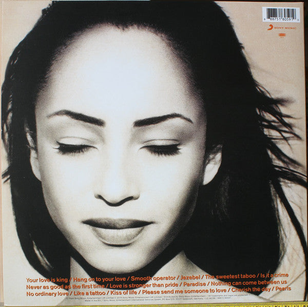 LP Sade ‎– The Best Of Sade
