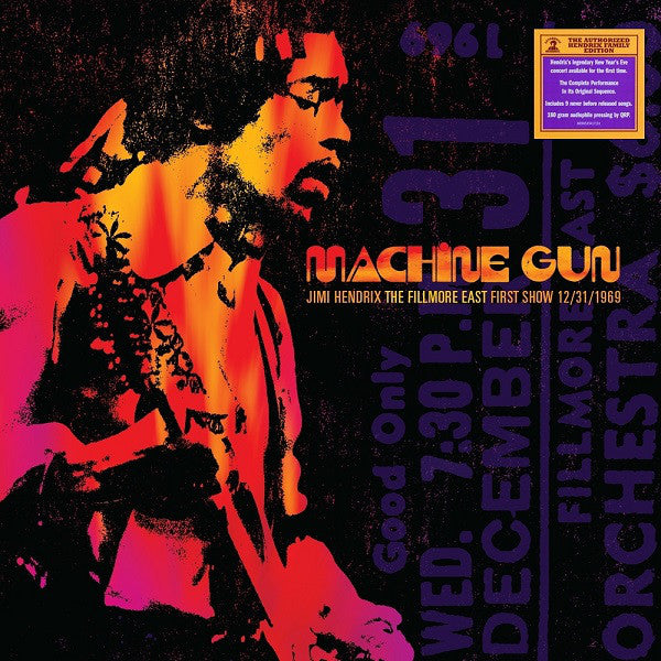 LP Jimi Hendrix ‎– Machine Gun: The Fillmore East First Show 12/31/1969