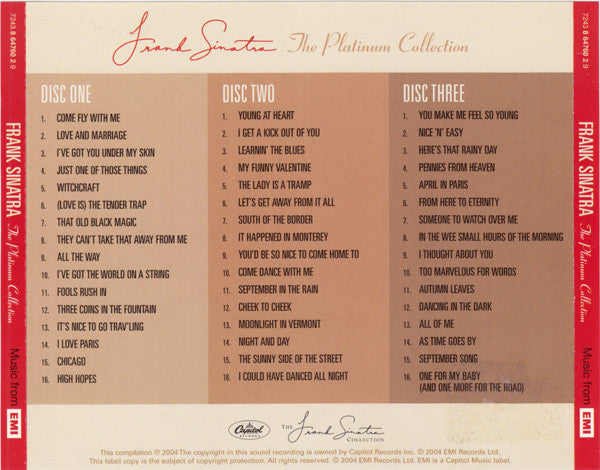 Frank Sinatra ‎– The Platinum Collection / cd