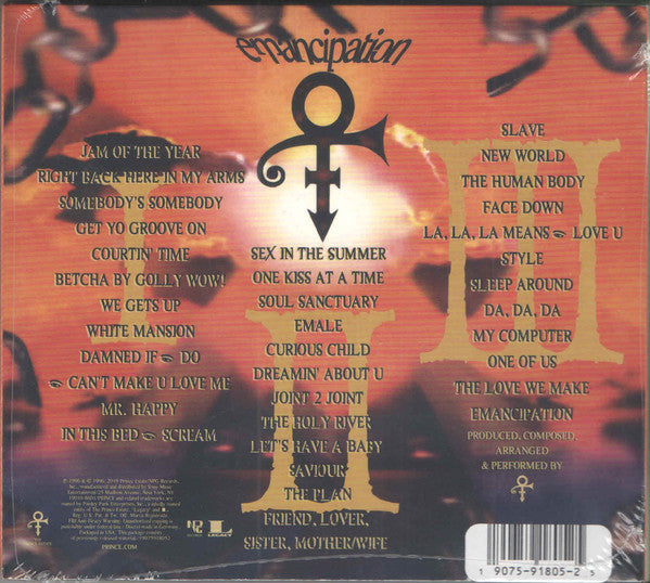 CD X3 The Artist (Formerly Known As Prince) ‎– Emancipation