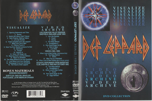 DEF LEPPARD -  VISUALIZE - VIDEO ARCHIVE /  DVD