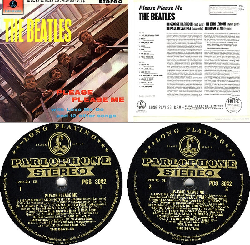 LP The Beatles ‎– Please Please Me