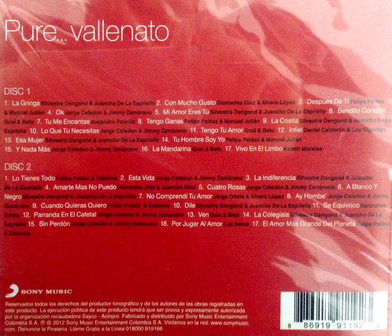 PURE VALLENATO / 2 CD' S