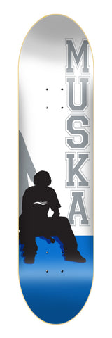 "Shorty's Original Muska BLUE Silhouette 8.125"" Deck."