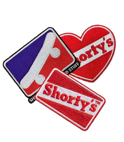 "Shorty's Embroidered 3"" Iron On Patches"