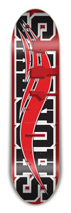 "Shorty's SkateBlock RED/BLACK 8.5"" Deck"